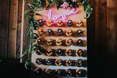 wedding hire donut wall leeds