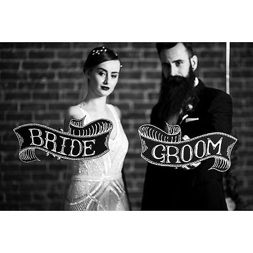 'BRIDE & GROOM' CHALKBOARDS