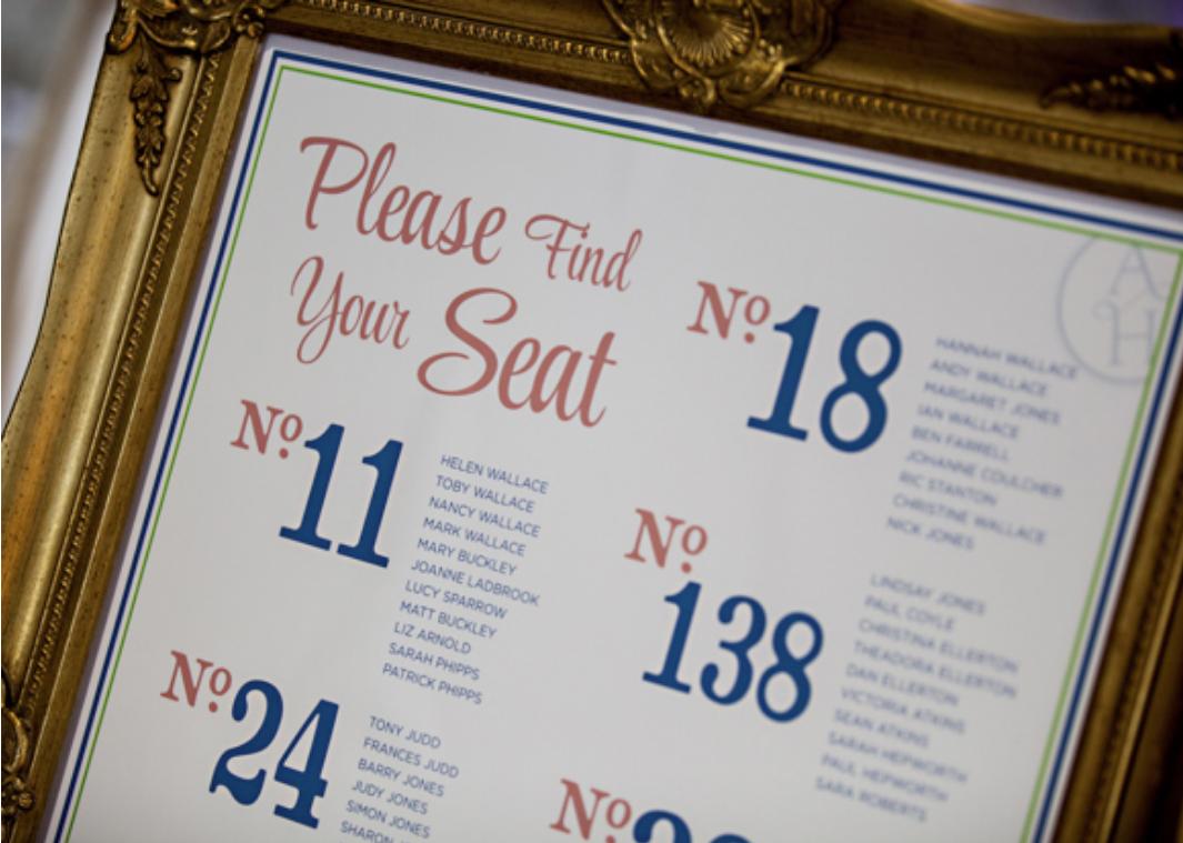 vintage frame table display