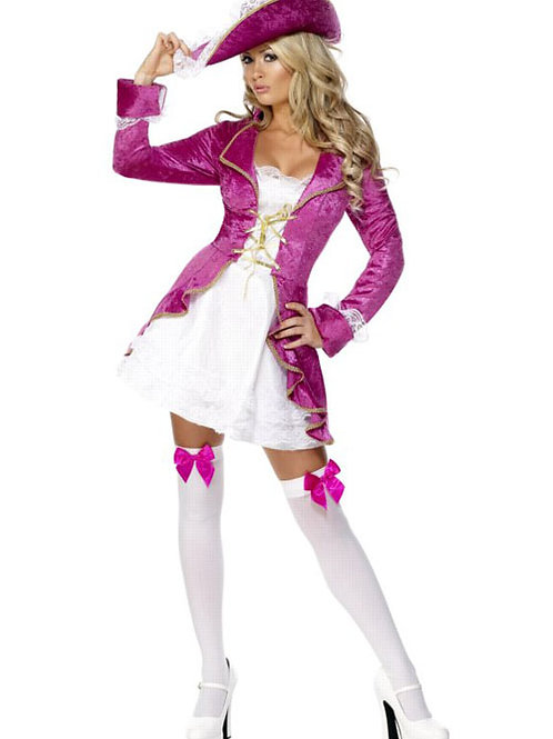 Pink Pirate fancy dress costume size small 8-10