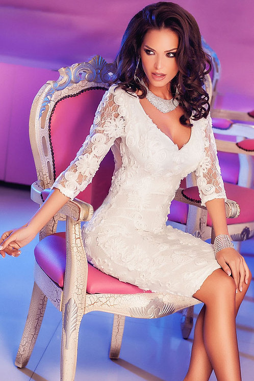 VIP stunning white lace dress