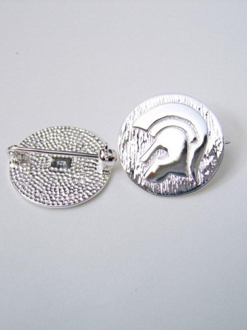 Sterling 395 Silver Trojan Badge custom made