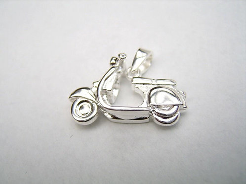 Solid Silver 925 Vespa pendant custom made