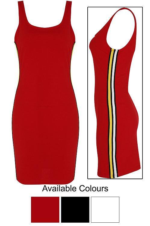 red stripe tee shirt dress retro 60's style