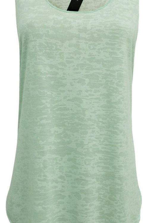 Pale green race back classic tee shirt