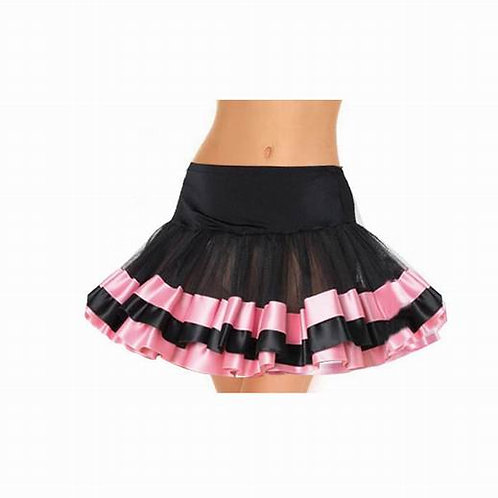 black and pink lace tutu skirt