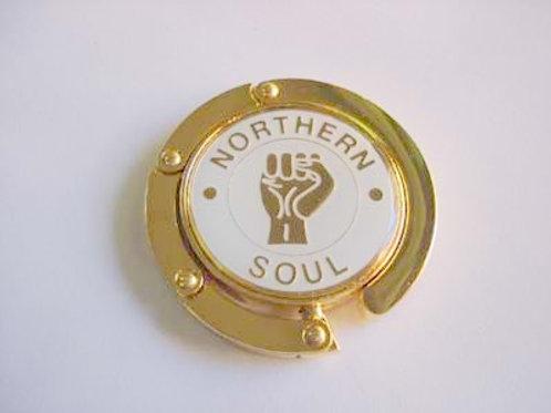 Soul jewellery Gold plated Northern soul fist of faith handbag hanger