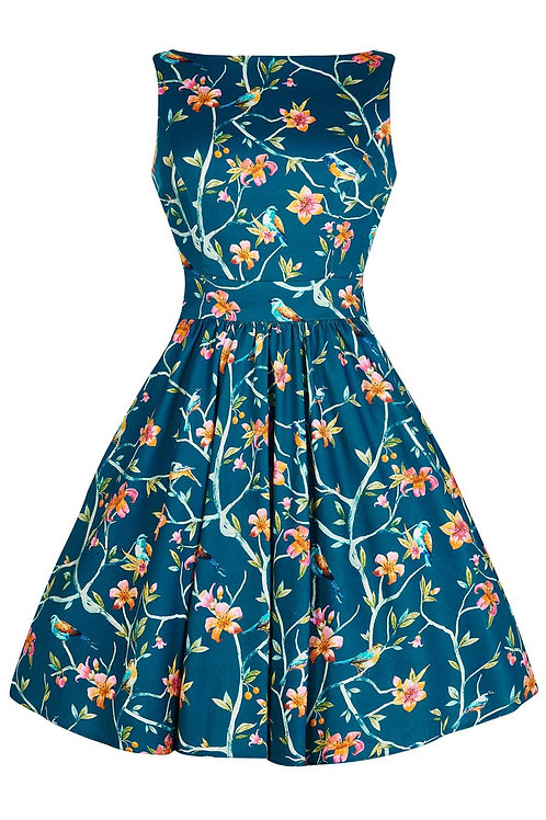 VIP blue bird Tee dress made in the UK