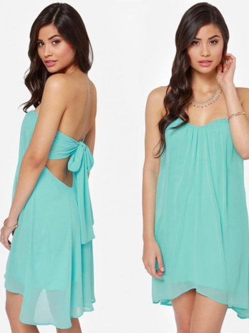 Pale blue chiffon summer/beach dress