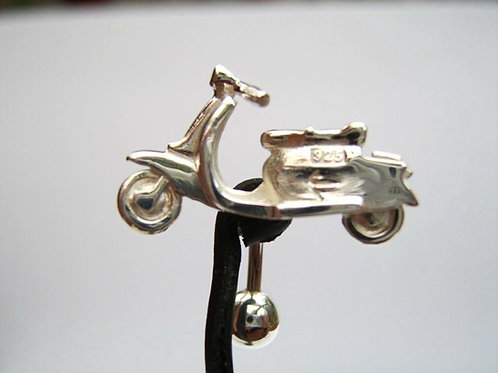 Solid silver lambretta belly bar custom made
