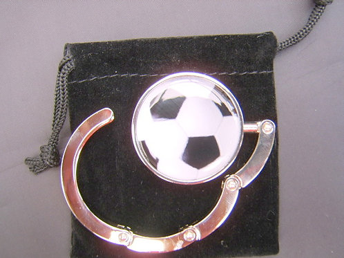 Football handbag hanger silver plated
