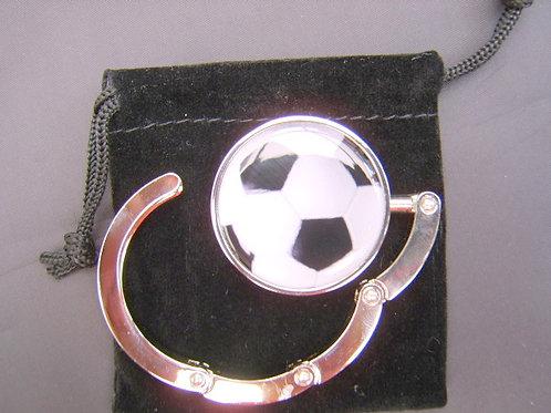 Football handbag hanger silver plated