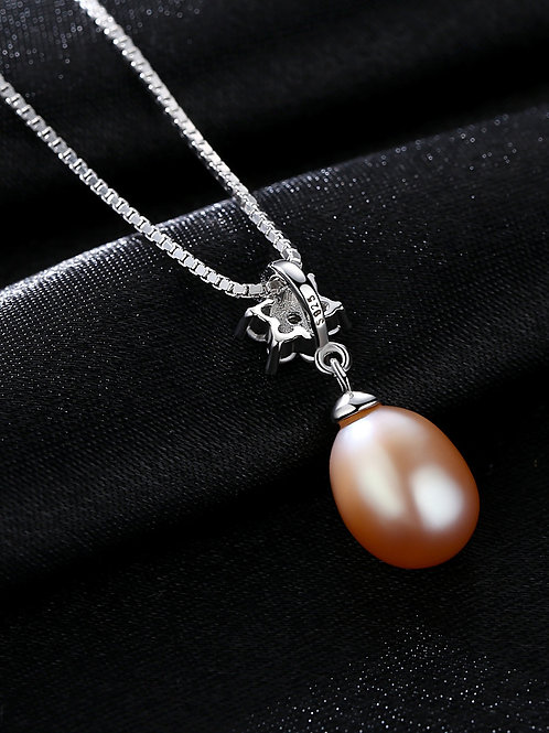 silver 925 Pure silver with AAA zircon flowers natural white freshwater pearl pe