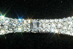 Rhinestone silver plated Flair Bow hairslide
