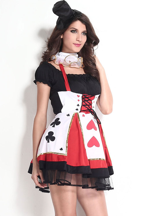 Queen of hearts deluxe fancy dress costume