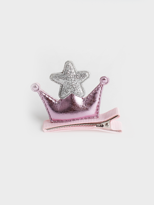 Childs pink crown hair slide for all little princesses