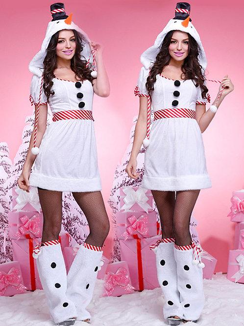 Lady snow fancy dress costume