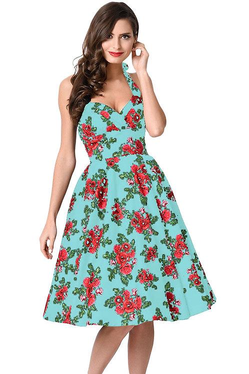 Pale Blue vintage style swing dress