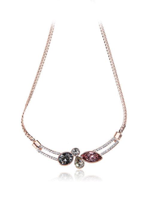 Silver plated SWAROVSKI element crystal necklace
