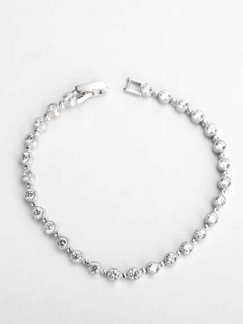 Silver delicate white Zircon silver 925 Bracelet