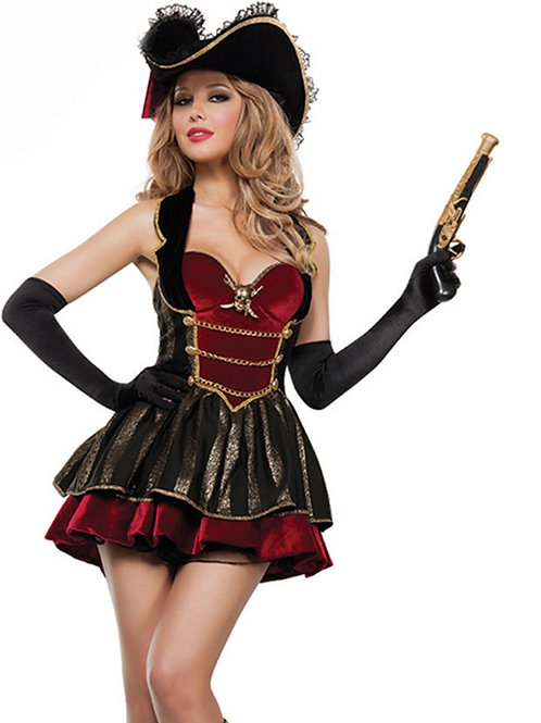 VIP Deluxe Lady Pirate fancy dress costume.