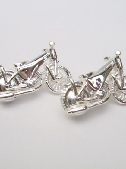 Sterling Solid Silver speedway badge custom made