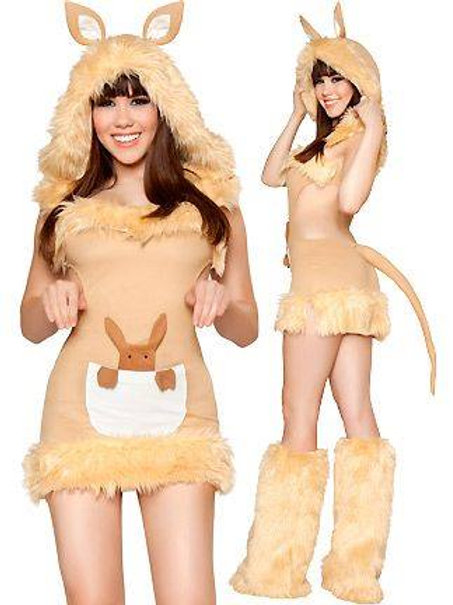 Kangaroo furry costume  cut out back