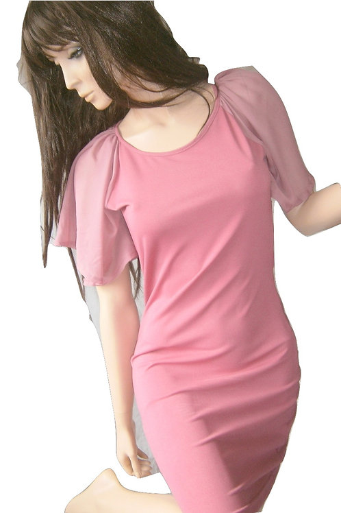Dusty Pink cut out back body con dress