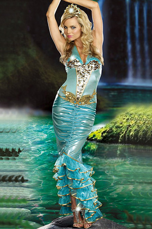 Ladies Ariel Little Mermaid Fancy Dress Costume