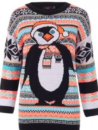Penguin over sized Christmas jumper