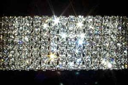 7 Row Stretch Rhinestone Bracelet – Crystal Silver plated