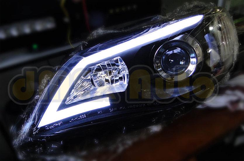 Subaru Impreza 07-13 Black 3D Projector Head Lights LED