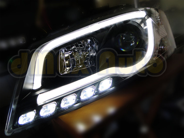 Audi A3 08-12 Facelift Black 3D Projector Head Lights LED