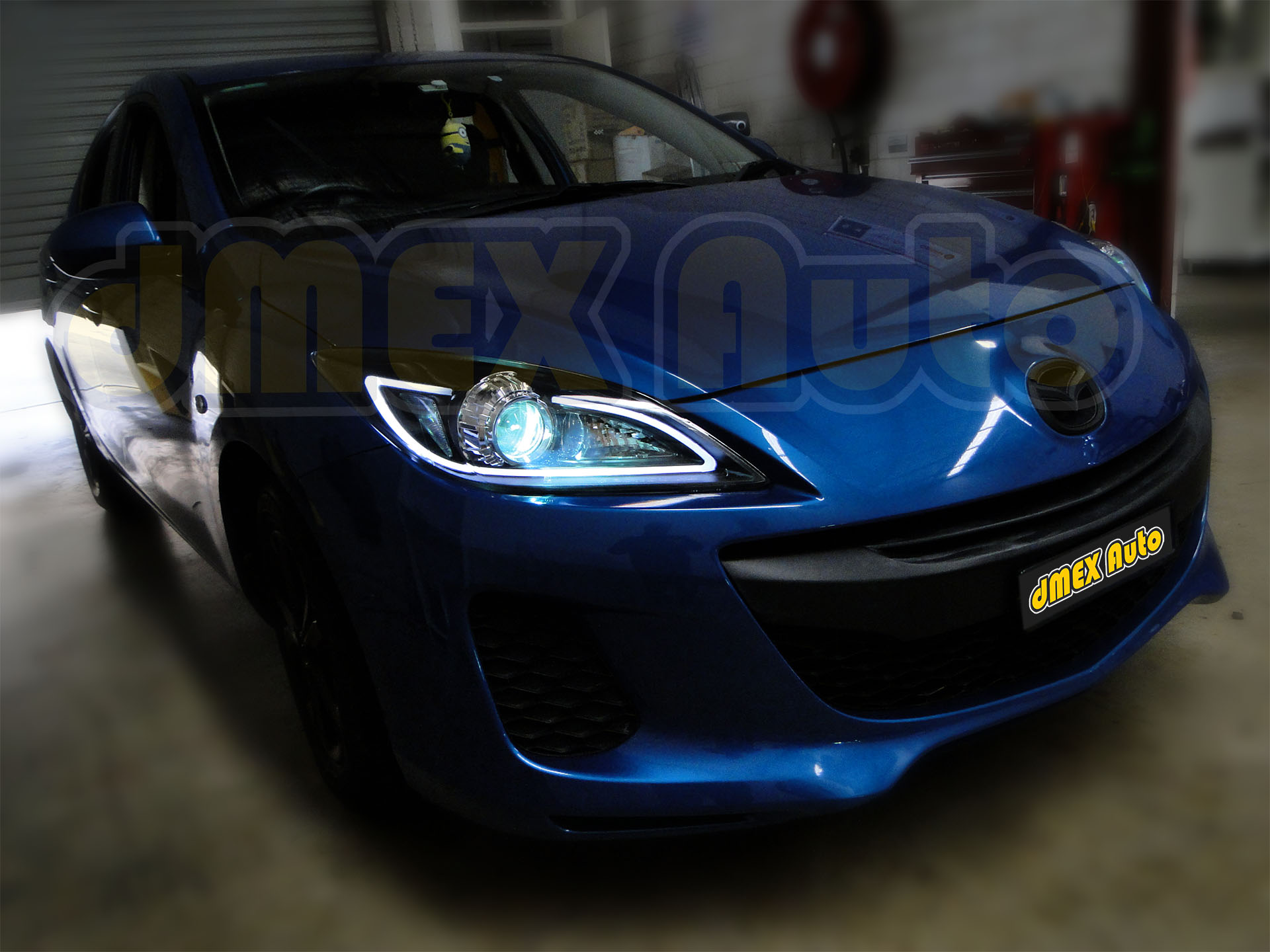 Headlight Installed - Mazda 3 09-13 - DSC09664 (Small)