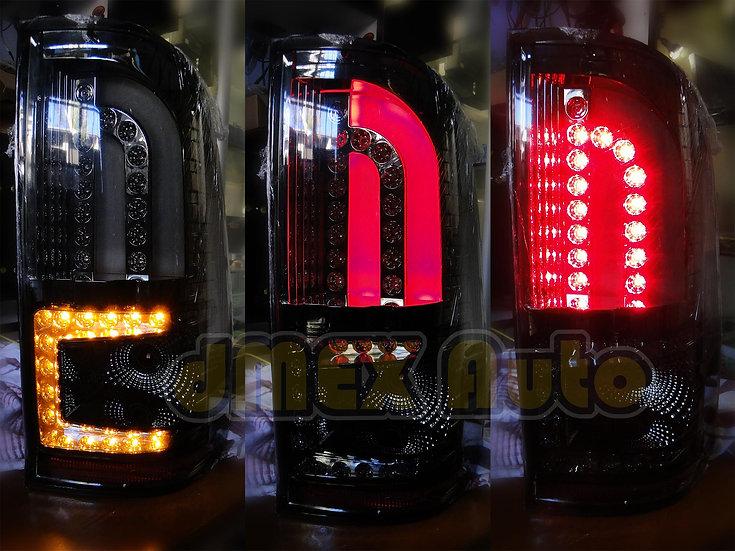 Toyota Hilux 04-15 Smoked Black 3D LED Stripe Bar Tail lights