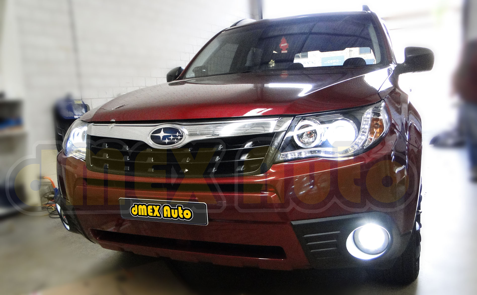 Headlight Installed - Subaru Forester 08-12 - DSC09627 (Small)