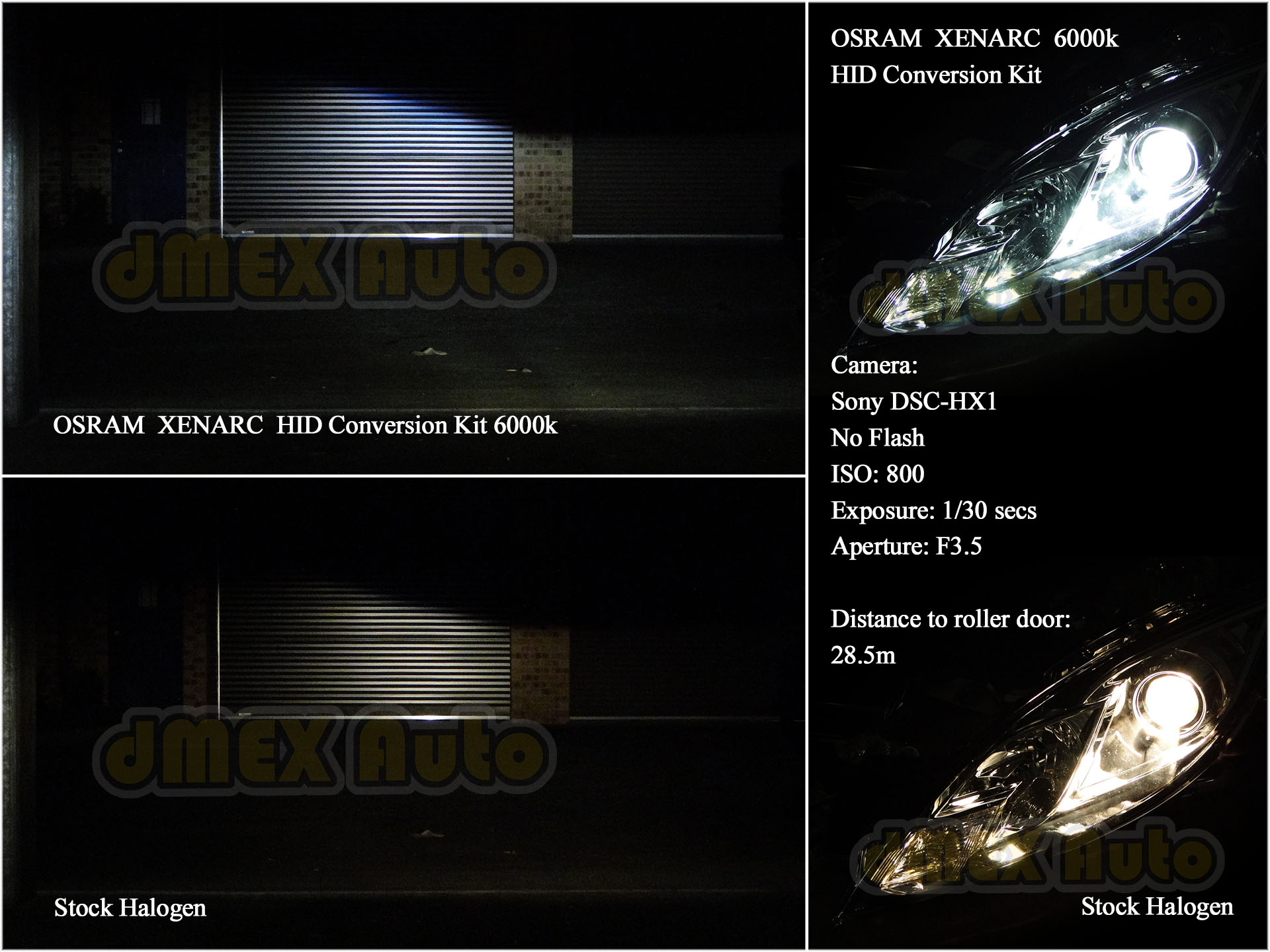 Lights Comparison Stock vs Osram HID Kit (Small)
