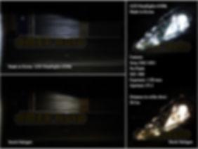 High Quality LED Headlight comparison to halogen