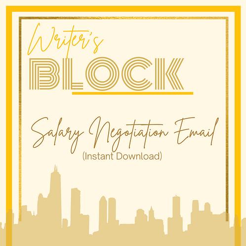 Salary Negotiation (Instant Download)