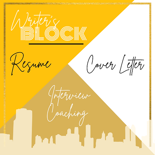 Resume/Cover Letter/Interview Coaching Package