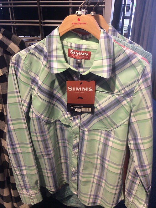 Simms Womens Big Sky LS Shirt, size Medium