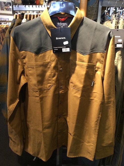 Simms Black Ford Flannel Shirt