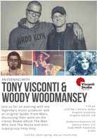 An evening with Tony Visconti & Woody Woodmansey