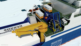 Figure 6: 4,000m ROV midship deployment with ROV Science Module for SASx.