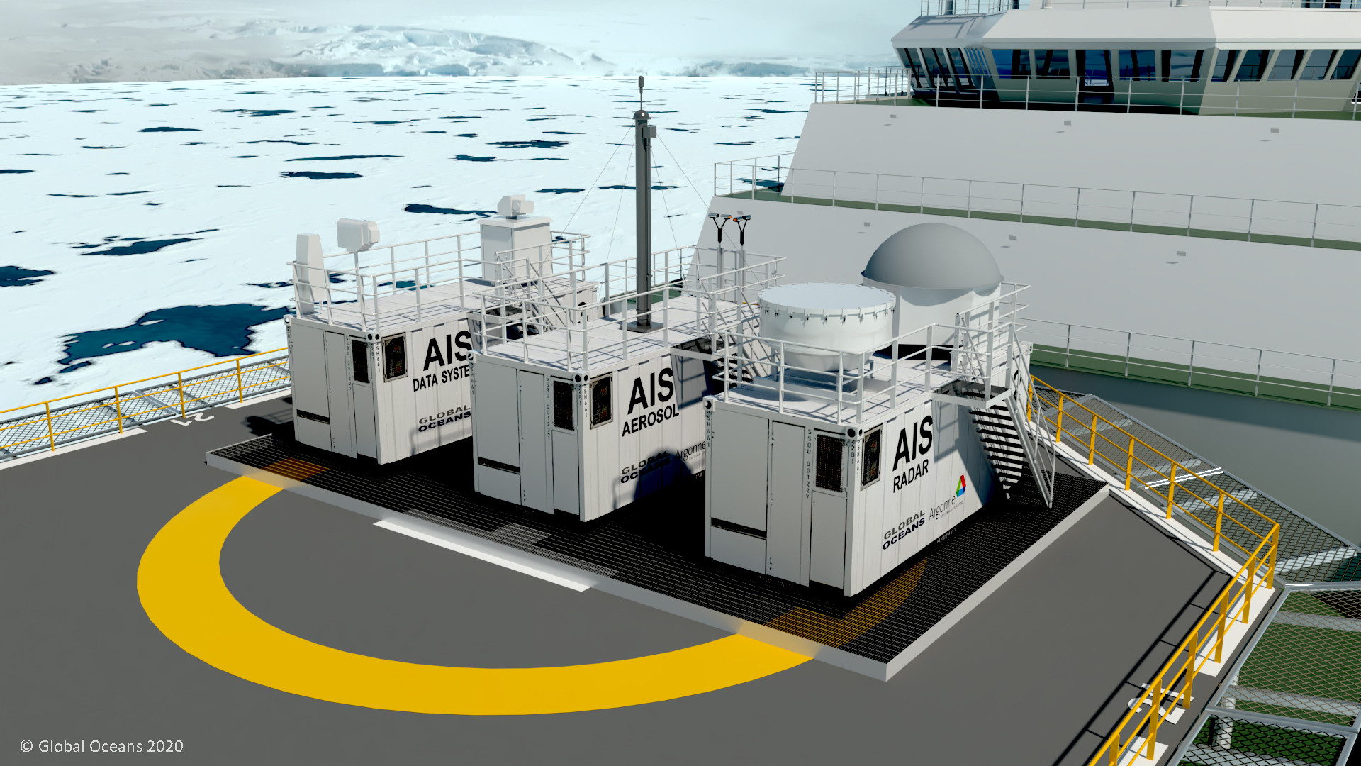 Figure 7: The Atmospheric Instrumentation Suite (AIS) Facility will contribute to SASx Arctic data.