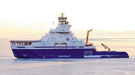 Figure 5: Chouest Aiviq Icebreaking Vessel. Certified ABS A3 for navigation in polar multi-year ice floes.