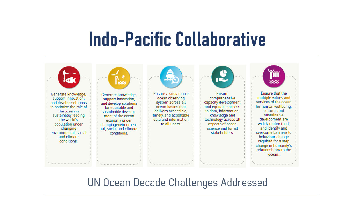 Figure 4: UN Decade Challenges addressed by the Indo-Pacific Collaborative Project