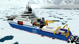 Figure 11: Chouest Aiviq chartered icebreaker configuration for the SASx project.