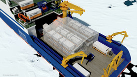 Figure 8: Global Oceans worked with Cocoon, Inc. to design a portable insulated shell for SASx workspace modules.