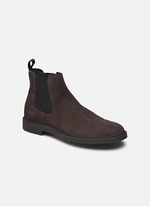 Boots en nubuck marron